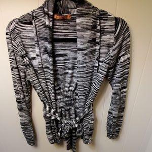 Belldini Sweaters - A White & Black Cardigan